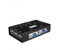 KVMA Switch 4 port USB 2.0*3 + Audio, 2048*1536, Ручное и Удаленное переключение, MT-461KL
