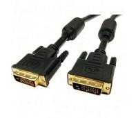 DVI m (24+1) - DVI m (24+1) 1,5m 2 фильтра Gold-Plated