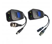 Video+Power Balun CVI/TVI/AHD/CVBS 4in1, 1 Channel Passive UTP UP 300m (комплект 2шт.) VB220PV-1