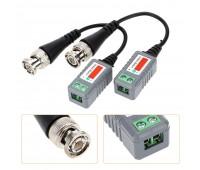 Video Balun AHD/CVI/TVI 1 Channel Passive Video Transceiver UTP UP 300m (комплект 2шт.) 202P