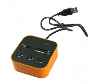 USB HUB 2.0 COMBO 3port + Card Reader MS, T-Flash, SD/MMC, CF/MD, XD (ALL in 1)