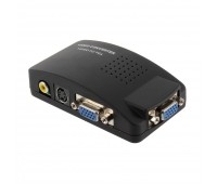 Video Converter to VGA, (вход и выходVGA+вход Video RCA и S Video)+ кабель:VGA, S-Video, USB-Power