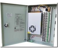 Блок питания металл Ящик, 100-120V, 220-240V, Output: DC 12V 20A, 220x315x60, 18 каналов NTS-240-12
