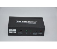 HDMI Switch 2x1 + Remote Control + Power Supply