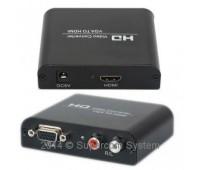 VGA to HDMI Converter, (вход VGA + Audio L/R, выход HDMI) + Power Supply DK001