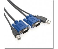 KVM Cables Keyboard+Mouse (USB) & Video 2in1 USB A+B+VGA (m-m) for KVM Switch 1.5m