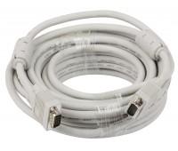 VGA Cable 15m/15m (папа-папа) экранированный 15m High Quality 8mm белый (2 фер. кольца)