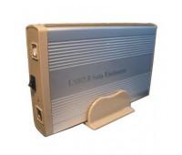 "Mobile Rack 3.5"" External Case USB 2.0 to SATA + power supply с подставкой Silver"