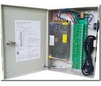 Блок питания металл Ящик  100-240V, Output: DC 12V 10A, 305x205x53 18 каналов Orig. PSC10A-18CH