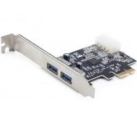 PCI-Express card to USB 3.0 5Gbps 2 ports NEC D720200 Power Molex