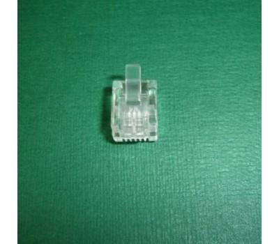 Connector RJ-11 6P4C (Телефонный) 4pin  (1000 шт. в упаковке) Коннектор