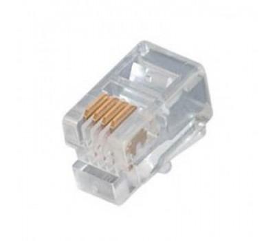 Connector RJ-9 4P4C (Телефонная трубка) (1000 шт. в упаковке) Коннектор