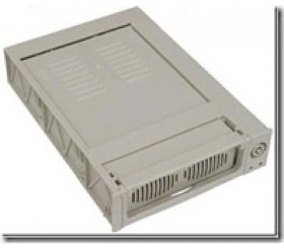 Mobile Rack IDE DMA 66/100/133, 2 Fan, 80pin/Keylock, internal (White)