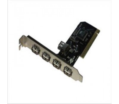PCI card to USB 2.0 480Mbps 5 ports (4-Ext., 1-Int) Chip VIA VT6212L
