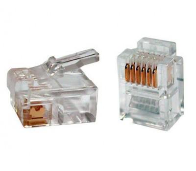 Connector RJ-12 6P6C (Телефонный) 6pin (1000 шт. в упаковке) Коннектор