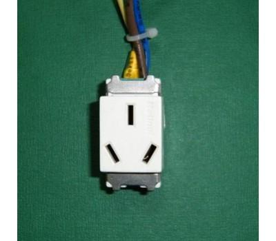 Розетка 3-pin, для подключения вилки CHINA стандарта в розетку напольную (S-955A-1A), S4, SHIP