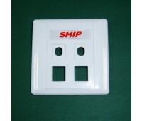 Front panel  4 ( 2*2) Port , для вставки M245/256 и для антенн или оптических вставок  A160-4, SHIP