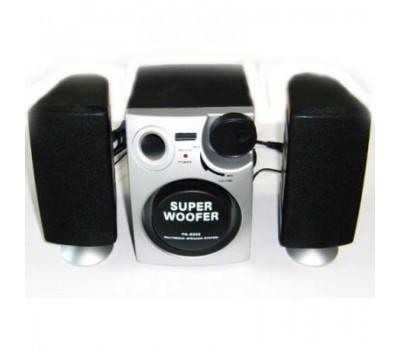 2,1 Super Woofer Speakers, 5W 60Hz-200Hz + 3W*2=6Watt 200Hz-16000Hz, PA-8202