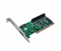 PCI card to SATA 2 port & ESATA 1 port (1 ext. + 2 int.) + IDE port int. + SATA cable controllers