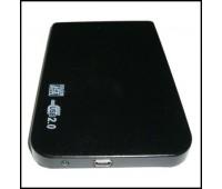 "Mobile Rack 2.5"" External SATA USB 2.0 Black, Ультратонкий, Алюминивый, XF250"