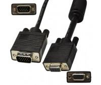 VGA Cable 15m/15f (мама-папа удлинитель) экранированный 30m High Quality