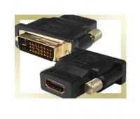 DVI (m) (24+1)/DVI-D - HDMI (f) Переходник Gold-Plated