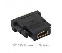 HDMI (f) - DVI (m) (24+5) Convertor Gold-Plated