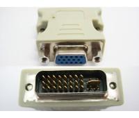 DVI (m) (24+5)/DVI-I -VGA (f) Переходник Gold-Plated