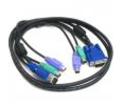 KVM Cables Keyboard Mouse Video 3in1 PS/2+PS/2+VGA (m-m) for KVM Switch 5m
