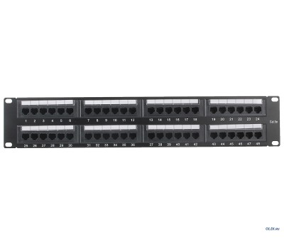 Patch panel 48-port  RJ-45 5e Cat. DATA LINK