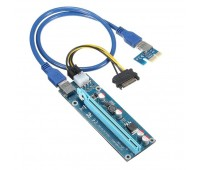 Riser PCI-E 1x to 16x Powered USB3.0 GPU Extender Riser Adapter Card 6PIN Bitcoin