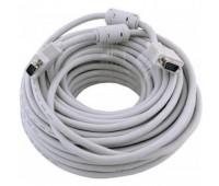 VGA Cable 15m/15m (папа-папа) экранированный 20m High Quality 8mm серый (2 фер. кольца)